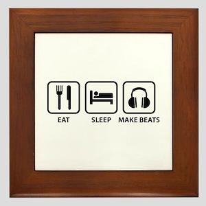 Eat Sleep Make Beats Framed Tile
