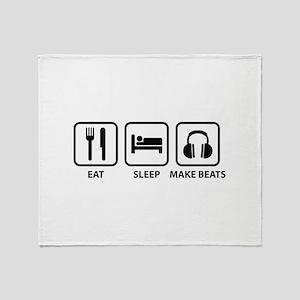 Eat Sleep Make Beats Throw Blanket