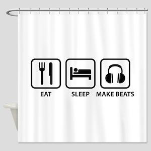 Eat Sleep Make Beats Shower Curtain