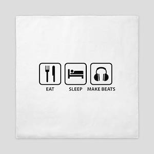 Eat Sleep Make Beats Queen Duvet