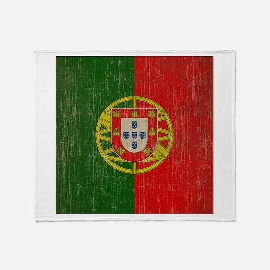 Vintage Portugal Flag Throw Blanket
