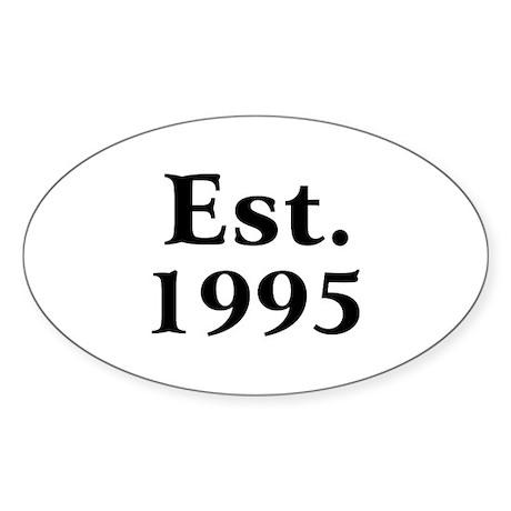 Est. 1995 Oval Sticker