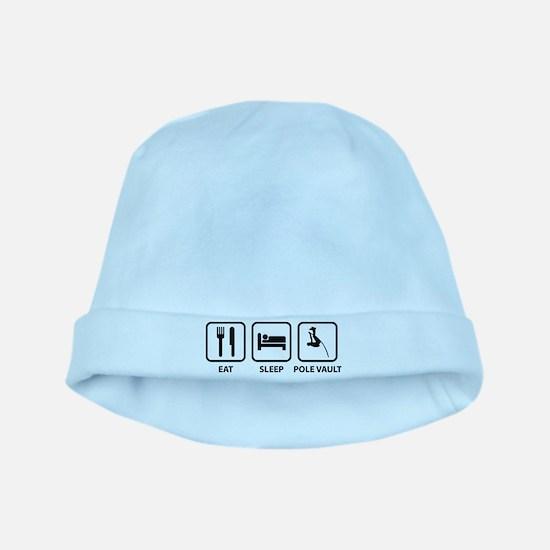 Eat Sleep Pole Vault baby hat