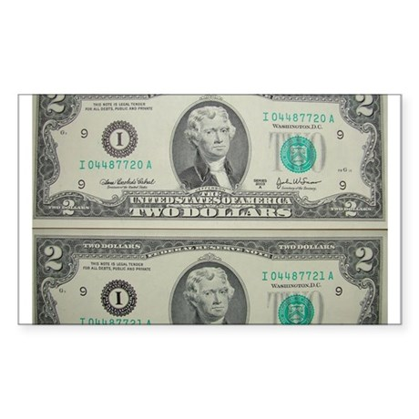 FOUR DOLLARS™ Sticker (Rectangle)