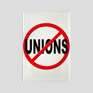 Anti / No Unions Rectangle Magnet