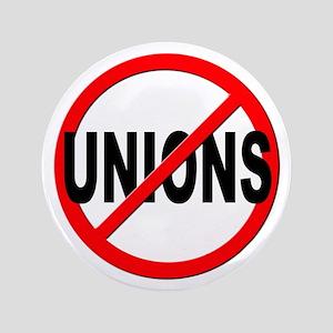 "Anti / No Unions 3.5"" Button"