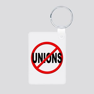 Anti / No Unions Aluminum Photo Keychain