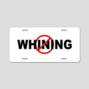 Anti / No Whining Aluminum License Plate