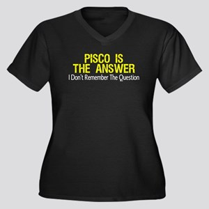 Pisco Is The Answer Women's Plus Size V-Neck Dark