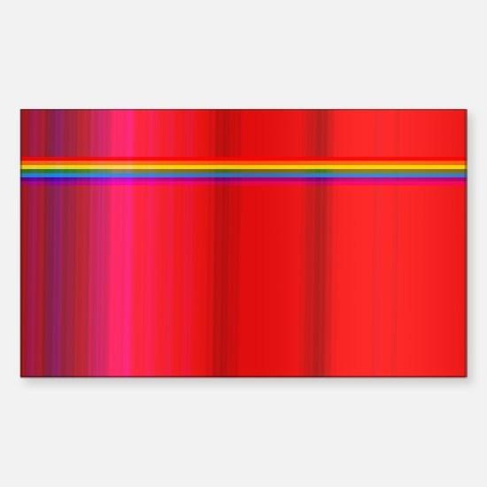 light rainbow Sticker (Rectangle)