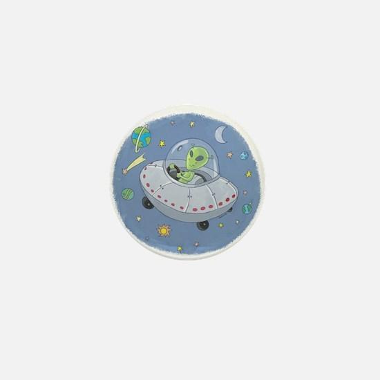 Little Green Alien Mini Button