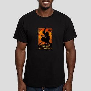 Halloween Salem Witch Men's Fitted T-Shirt (dark)