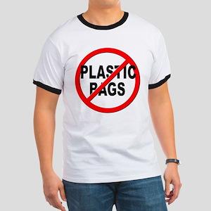 Anti / No Plastic Bags Ringer T