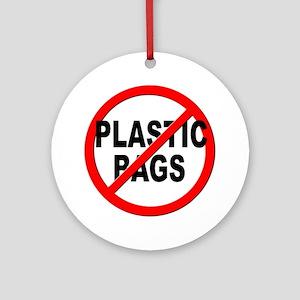 Anti / No Plastic Bags Ornament (Round)