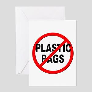 Anti / No Plastic Bags Greeting Card