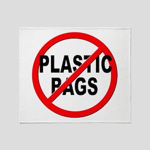 Anti / No Plastic Bags Throw Blanket