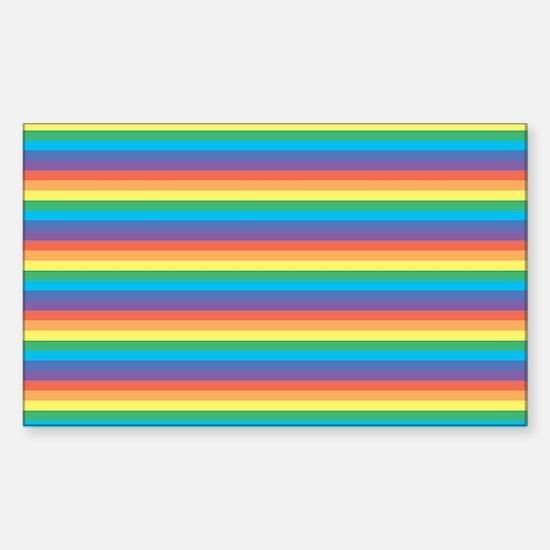 multi rainbow Sticker (Rectangle)