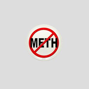 Anti / No Meth Mini Button