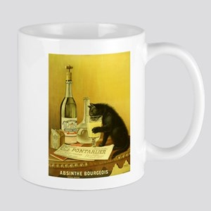 Absinthe Bourgeois Chat Noir Mug