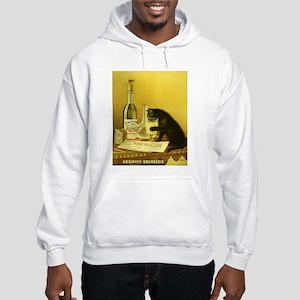 Absinthe Bourgeois Chat Noir Hooded Sweatshirt