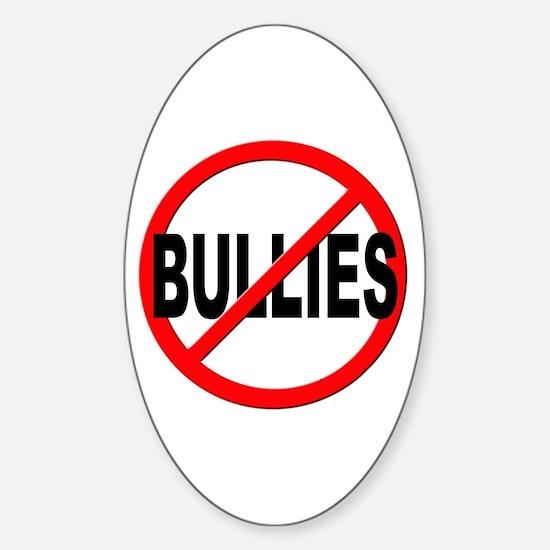 Anti / No Bullies Sticker (Oval)