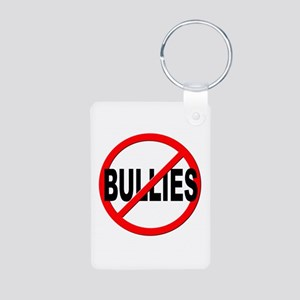 Anti / No Bullies Aluminum Photo Keychain