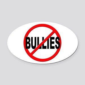 Anti / No Bullies Oval Car Magnet