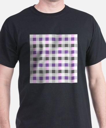 violet plaid T-Shirt