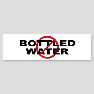 Anti / No Bottled Water Sticker (Bumper)