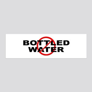 Anti / No Bottled Water 36x11 Wall Decal
