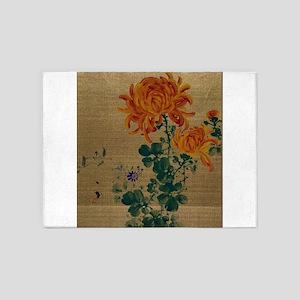Chrysanthemum - Anon - 1890 5'x7'Area Rug