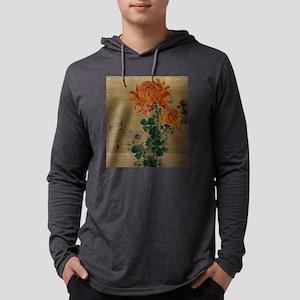 Chrysanthemum - Anon - 1890 Mens Hooded Shirt