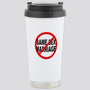 Anti / No Same Sex Marriage Stainless Steel Travel