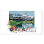 Mt SceneFlower Sticker (Rectangle 10 pk)