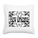New Orleans Wrought Iron Design Square Canvas Pill