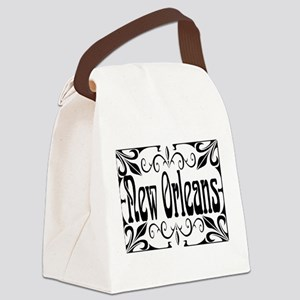 New Orleans Wrought Iron Design Canvas Lunch Bag