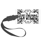 New Orleans Wrought Iron Design Large Luggage Tag