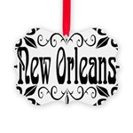 New Orleans Wrought Iron Design Picture Ornament