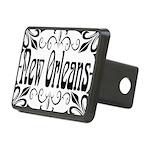 New Orleans Wrought Iron Design Rectangular Hitch