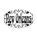 New Orleans Wrought Iron Design Oval Car Magnet