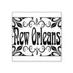 New Orleans Wrought Iron Design Square Sticker 3