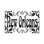 New Orleans Wrought Iron Design 35x21 Wall Decal