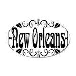 New Orleans Wrought Iron Design 35x21 Oval Wall De