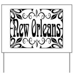 New Orleans Wrought Iron Design Yard Sign