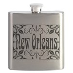 New Orleans Wrought Iron Design Flask