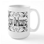 New Orleans Wrought Iron Design Large Mug