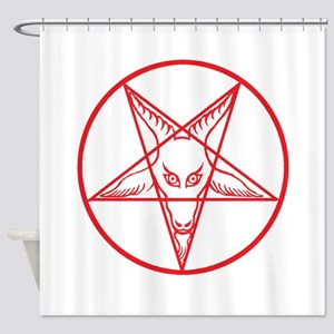 Baphomet Shower Curtain