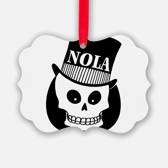 NOLA Skull Tatoo Ornament