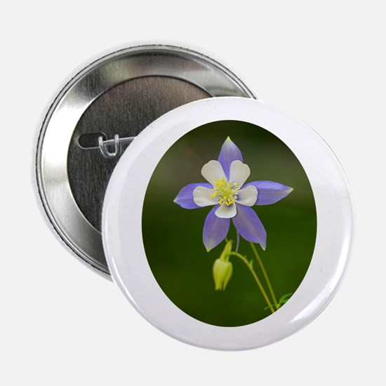 "Colorado Columbine Wildflower 2.25"" Button"