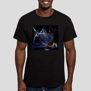 Wizzard & Dragon Men's Fitted T-Shirt (dark)